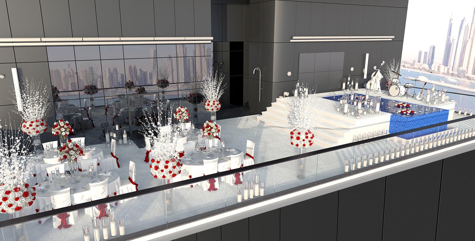 3D Visualisation of penthouse in Dubai, 3D modeling,  3d event design, London, UK.