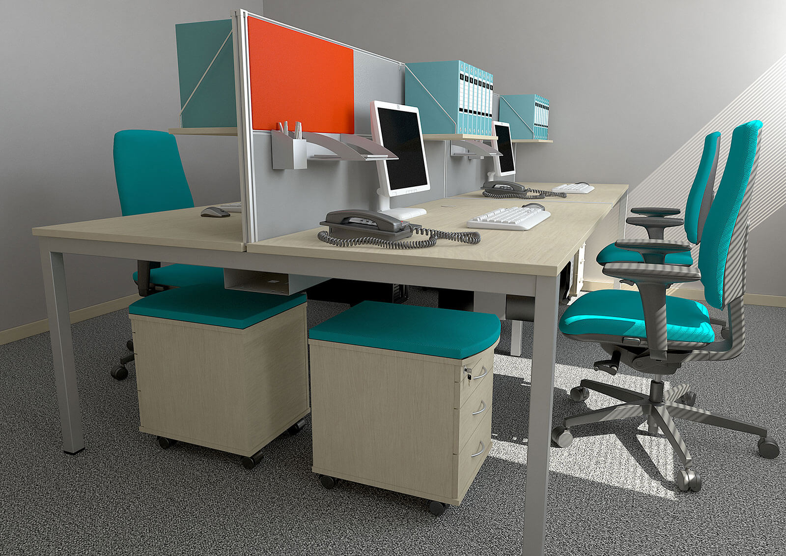 3D  commercial visualisation - office, London, UK.