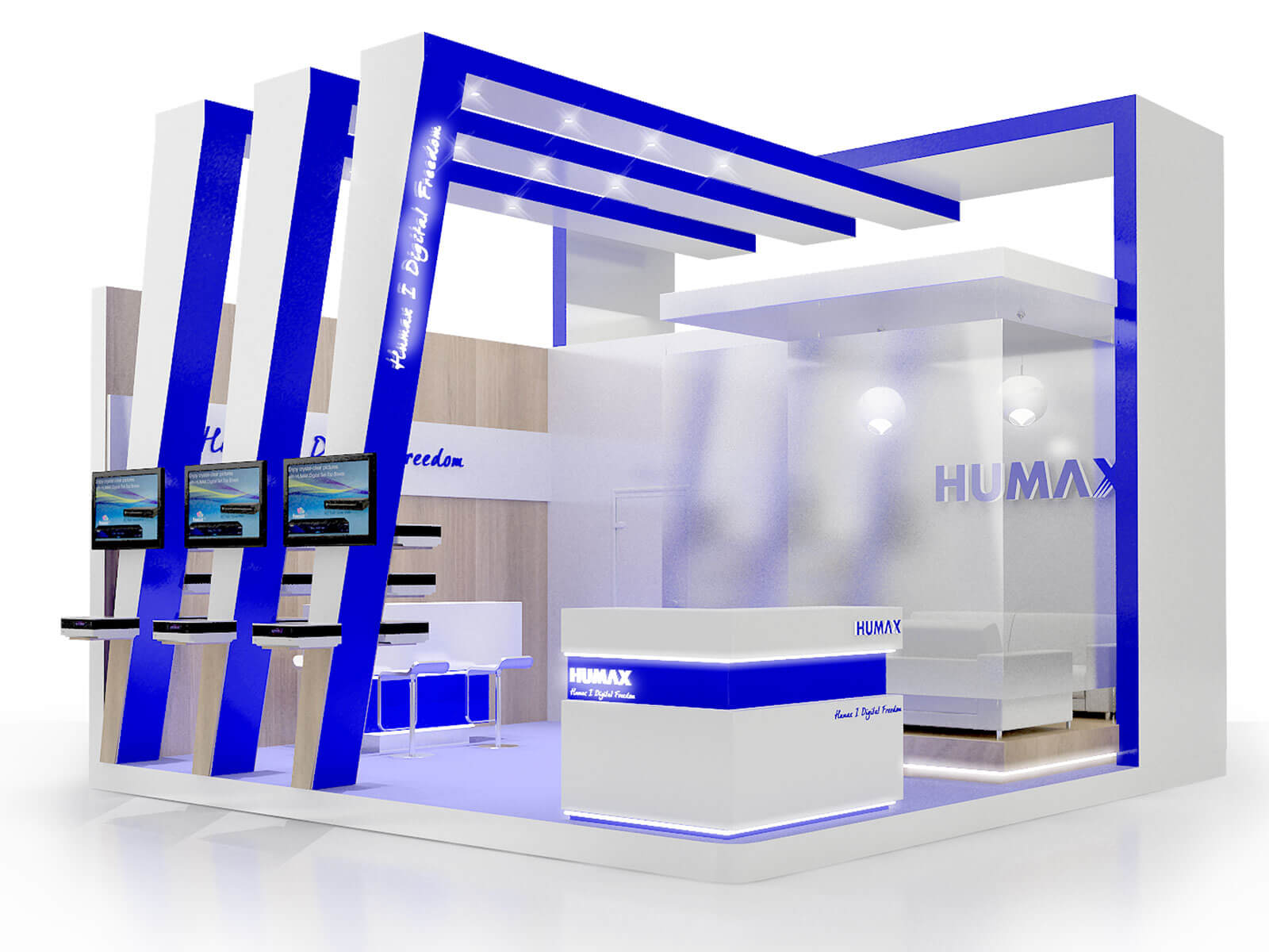 Exhibition stand design, 3d exhibition design, London, UK.