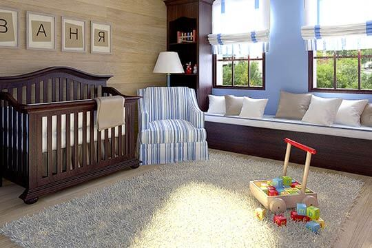3D Visualisation baby's room, 3D design, Interior design, London, UK.