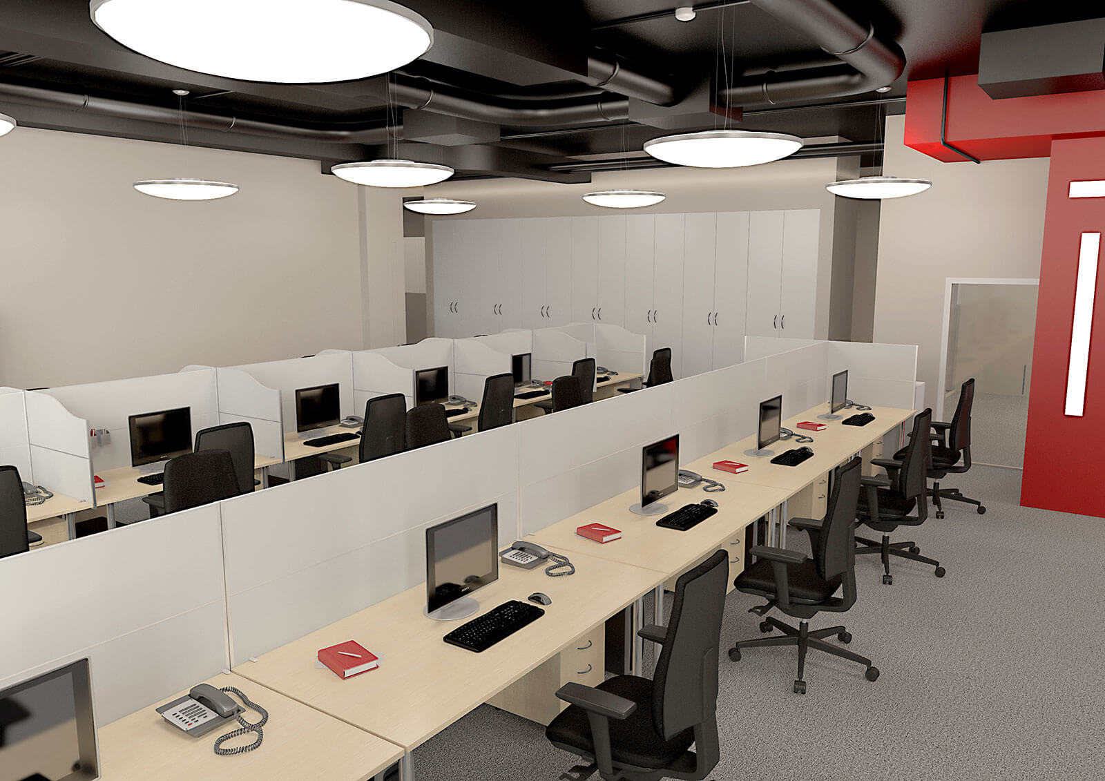 3D visualisation of the office, 3d office planning, commercial 3d visualization, London, UK.