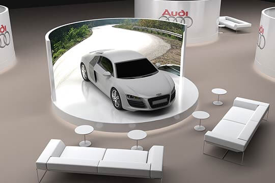 3D visualization for Audi Exhibition, 3D modeling and 3D design. London, UK.