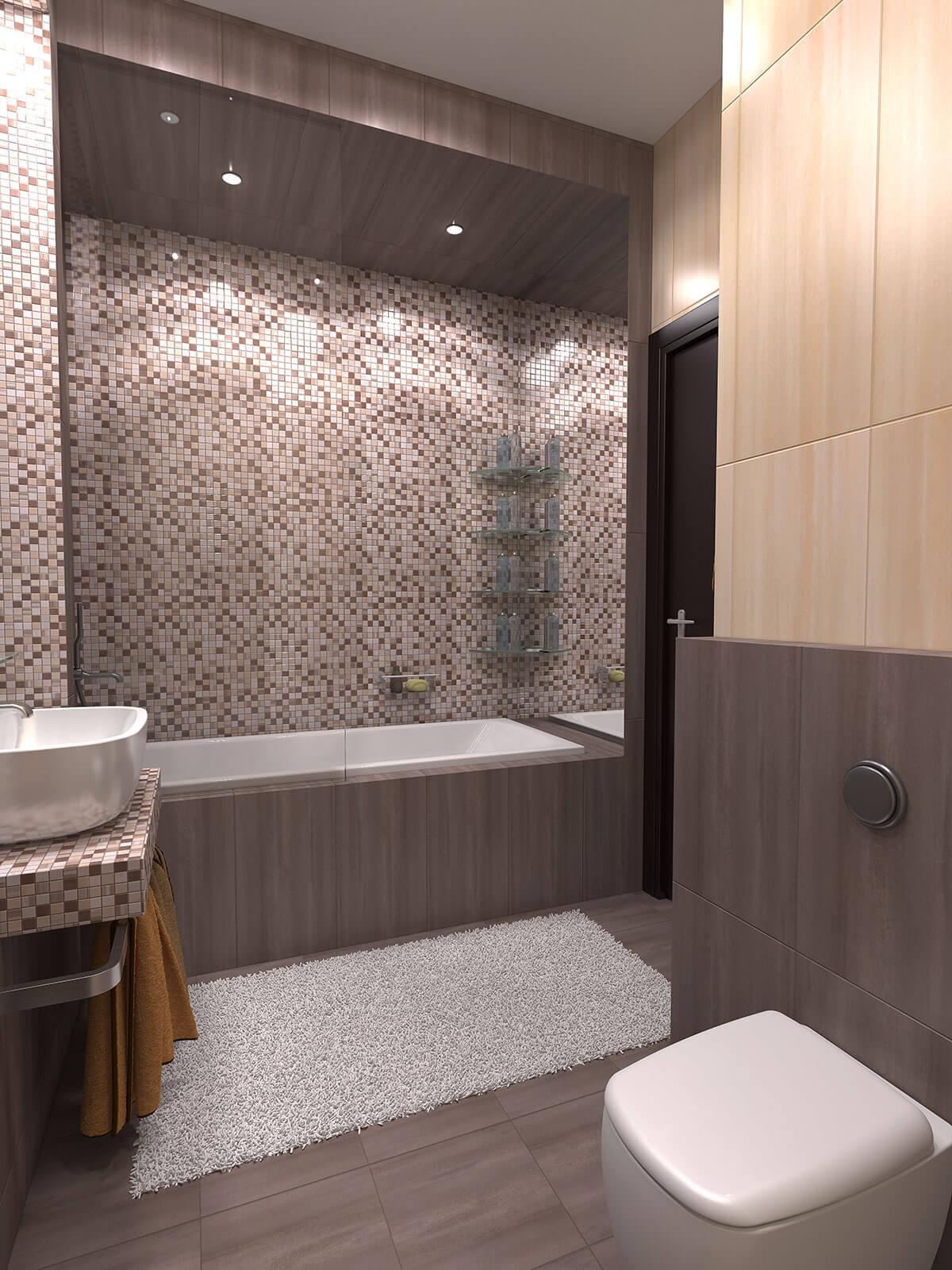 3D interior design, 3D visualization of the bathroom, 3D modeling, London, UK.