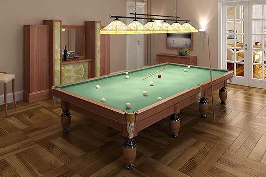 3D residential visualisation of billiard room, 3d modeling, London, UK