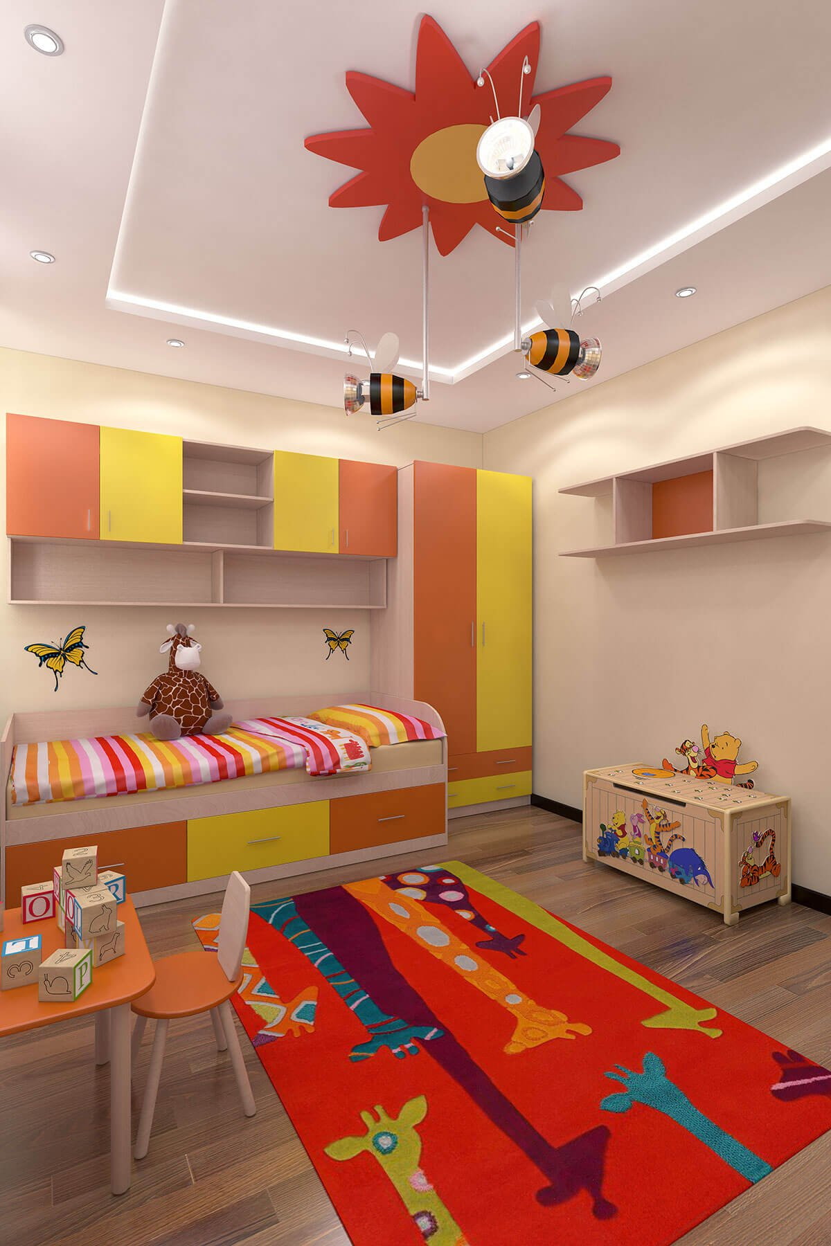 3D Visualisation children's room, 3D design, Interior design, London, UK.