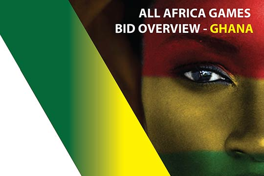 Corporate design for All Africa Games in Ghana, brochure design, London, UK.