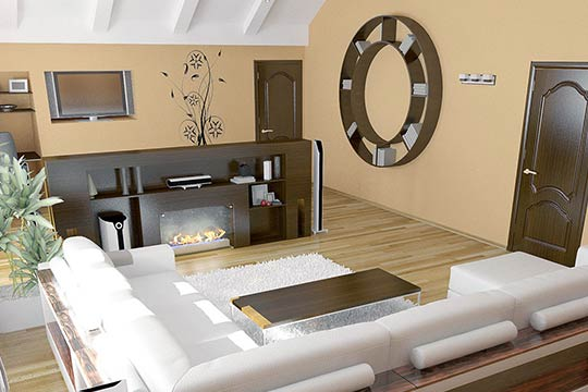 3D interior design with architect drawings and 3D visualisation, London, UK.