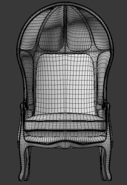 3d Modeling Versailles Burlap-Backed Chair