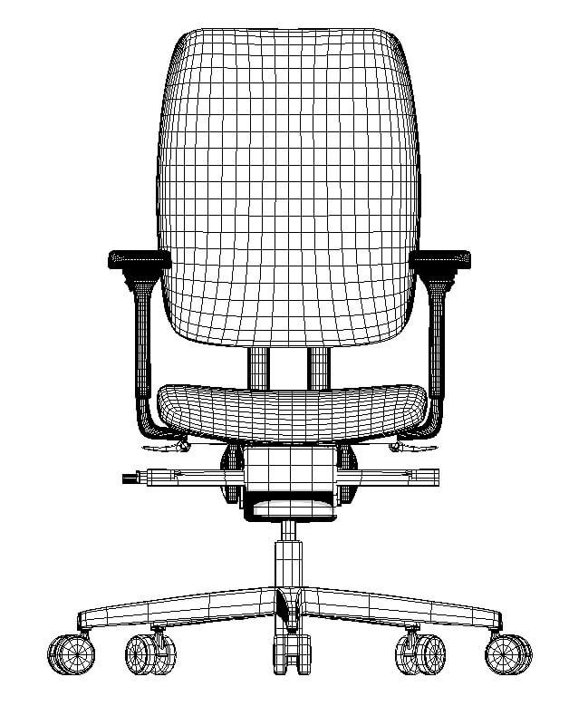 3D modeling with high level of mechanical details, 3d model of office chair, London, UK.