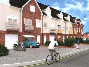 3D architectural visualisation of housing in UK.