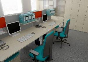 3D  commercial visualisation - office, London, UK.