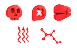 Corporate design, 3D web-icons for online representation, London UK.