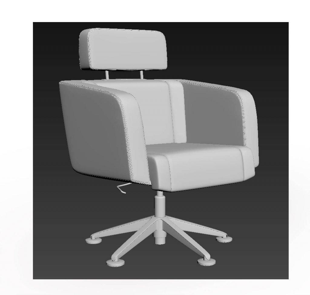 3D model of Tango office chair, 3D visualisation, London, UK.