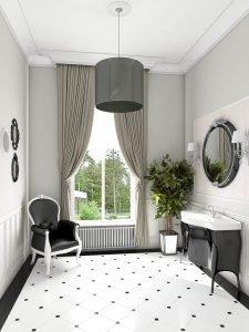 3d visualisation of classic toilet room design, 3d modeling, London, UK.