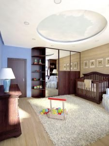 3D Visualisation baby's room, 3D design, Interior design, London, UK.