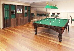 3D commercial visualisation of billiard room, 3d modeling, London, UK